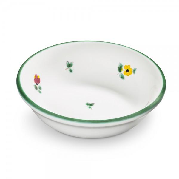 "Kompottschale 14 cm, ""Streublumen grün"""