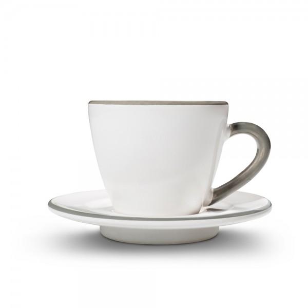 "Espressotasse ""Grauer Rand"""