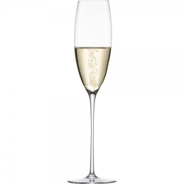 Sektglas mit Moussierpunkt