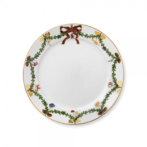 """Teller 27 cm """"Star Fluted Christmas"""" flach"""