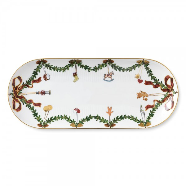 "Kuchenplatte 39 cm ""Star Fluted Christmas"" oval"