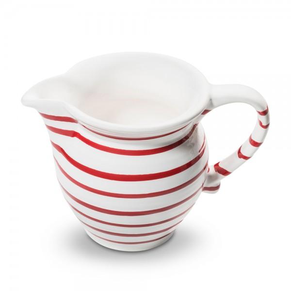 Milchgießer in Rotgeflammt von Gmundner Keramik
