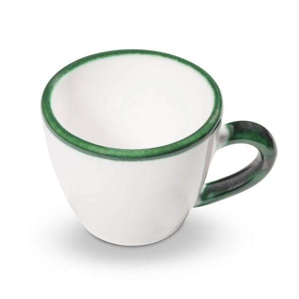 Tasse Espresso/Gourmet, Gmundner, Grüner Rand