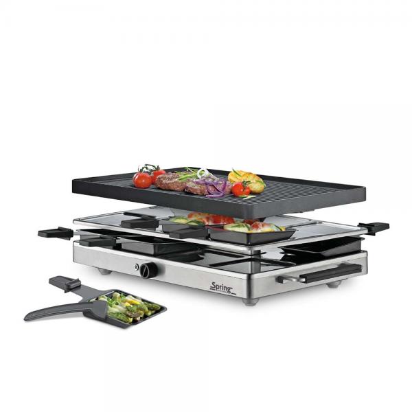 Raclette8 Classic Alugrillplatte Spring