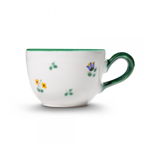 "Kaffeetasse ""Streublumen grün"""