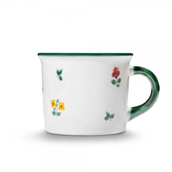"""Kaffeehaferl """"Streublumen grün"""""""