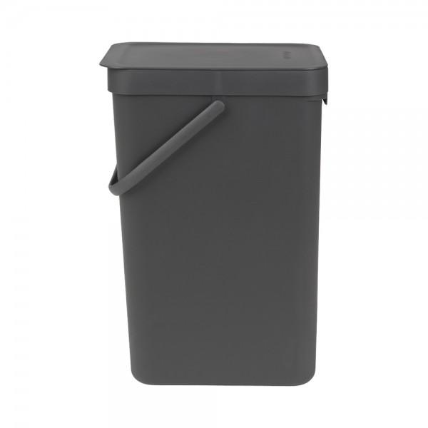 Abfallbehälter grau 12 l