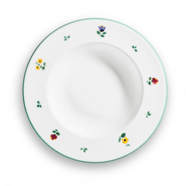 "Teller/Suppe Gourmet 24cm, ""Streublumen grün"""