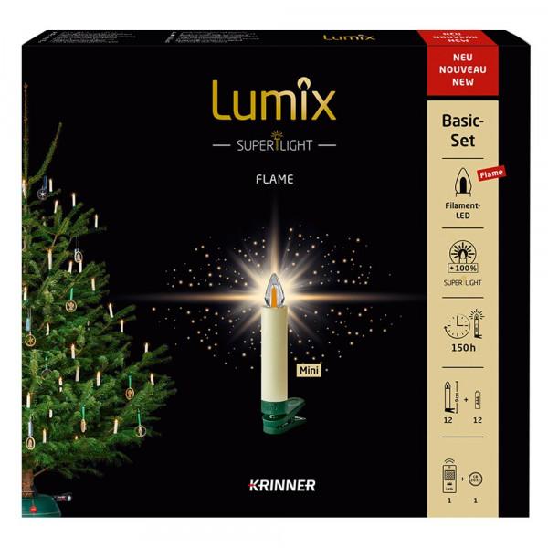 "Christbaumkerze Basisset ""Lumix SuperLight Flame"""