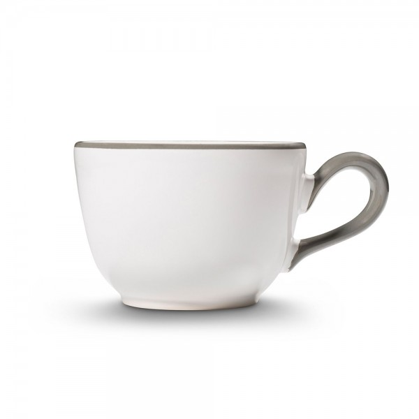 """Kaffeetasse """"Grauer Rand"""""""