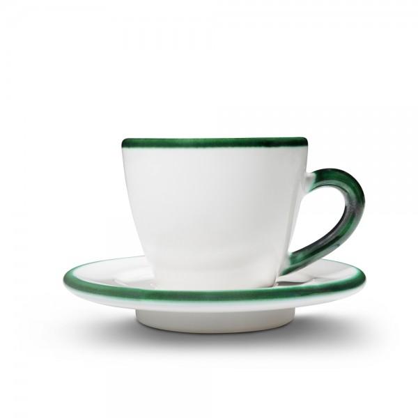 """Espressotasse """"grüner Rand"""""""