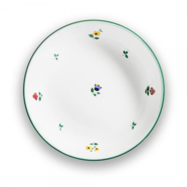 "Suppenteller ""Streublumen grün"""