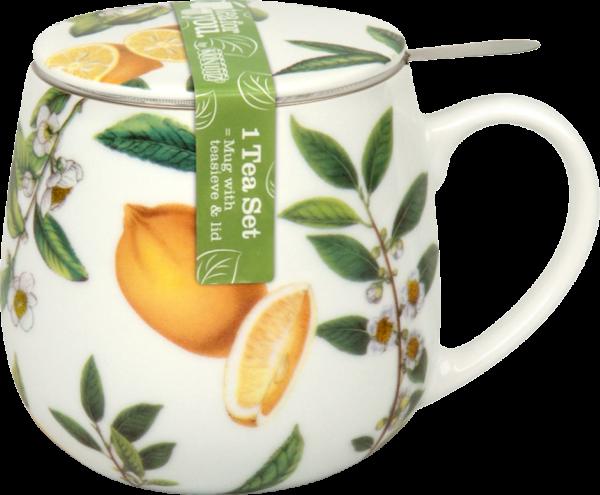 Tee-Becher mit Sieb und Deckel