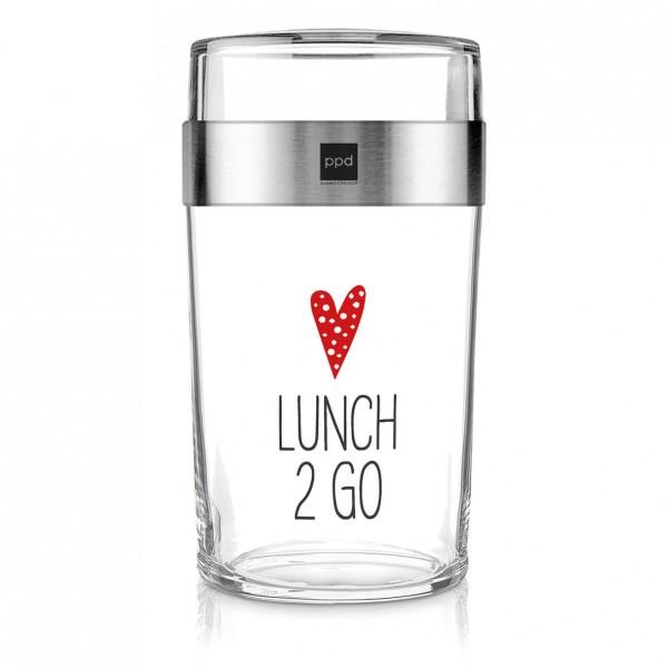 Lunch 2 Go aus Glas 700ml + 200ml