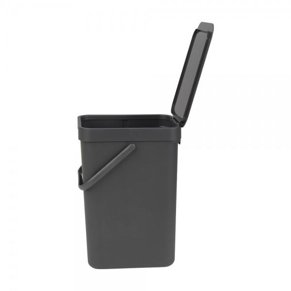 Abfallbehälter mit Deckel grau