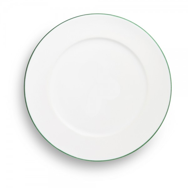 """Teller/Fleisch Gourmet 29cm, """"Grüner Rand"""""""