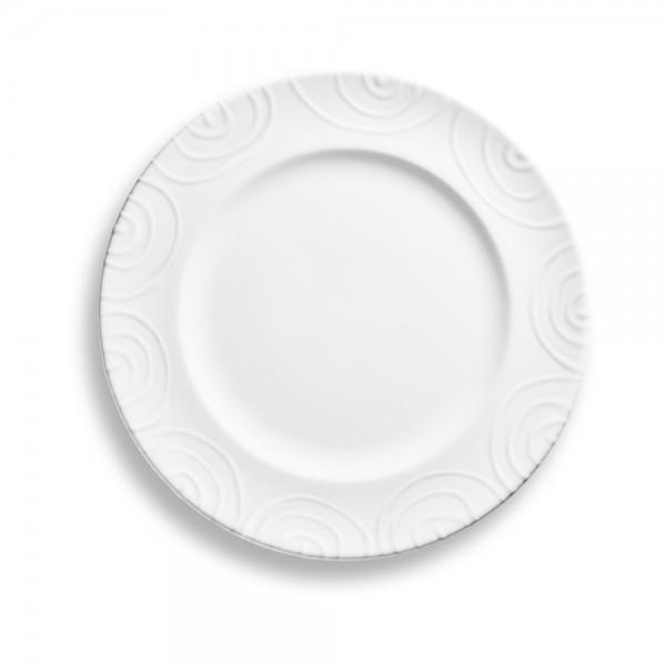 """Speiseteller Gourmet """"Weißgeflammt"""""""