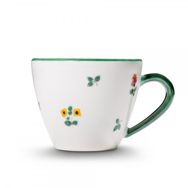 "Kaffeetasse Gourmet 0,20l, ""Streublumen grün"""
