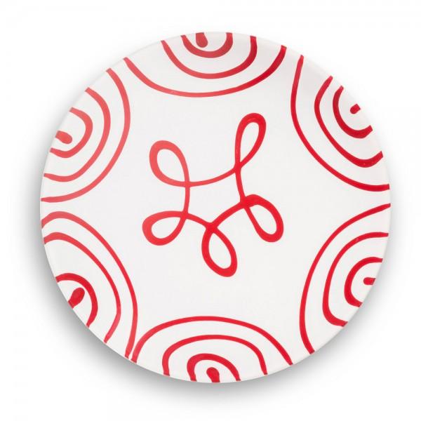 Gmundner Keramik Unterteller in Rotgeflammt